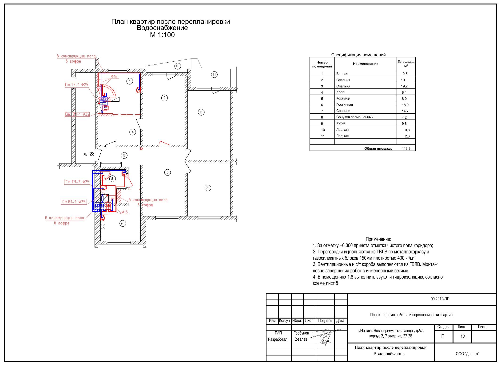 Планировка 1,2,3 и 4 комнатной квартиры брежневки